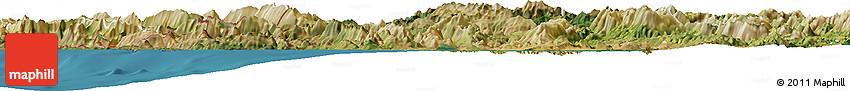 Satellite Horizon Map of Ipiros