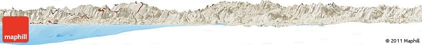 Shaded Relief Horizon Map of Ipiros
