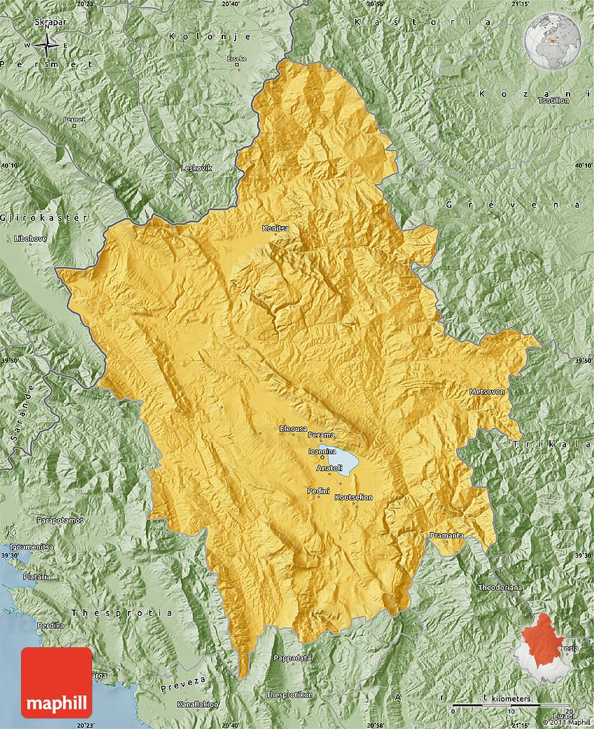 Savanna Style Map of Ioannina