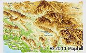 Physical Panoramic Map of Ioannina