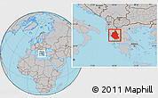 Gray Location Map of Ipiros