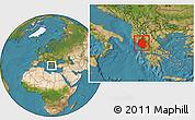 Satellite Location Map of Ipiros