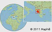 Savanna Style Location Map of Ipiros