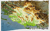 Physical Panoramic Map of Ipiros, darken