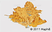 Political Shades Panoramic Map of Ipiros, cropped outside