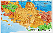 Political Shades Panoramic Map of Ipiros