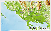 Physical 3D Map of Preveza