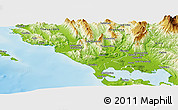 Physical Panoramic Map of Preveza