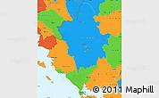 Political Simple Map of Ipiros