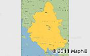 Savanna Style Simple Map of Ipiros