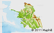 Physical 3D Map of Thesprotia, single color outside