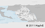 Gray Panoramic Map of Thesprotia, single color outside