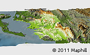 Physical Panoramic Map of Thesprotia, darken