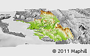 Physical Panoramic Map of Thesprotia, desaturated