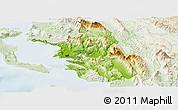 Physical Panoramic Map of Thesprotia, lighten
