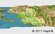 Physical Panoramic Map of Thesprotia, satellite outside