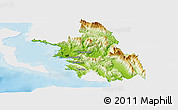 Physical Panoramic Map of Thesprotia, single color outside