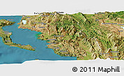 Satellite Panoramic Map of Thesprotia
