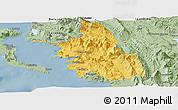 Savanna Style Panoramic Map of Thesprotia