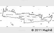 Blank Simple Map of Kriti