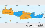 Political Simple Map of Kriti