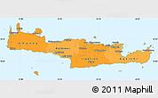 Political Shades Simple Map of Kriti