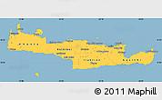 Savanna Style Simple Map of Kriti