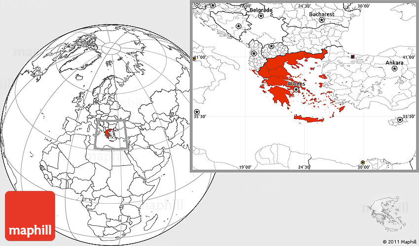 Blank location map of greece westnortheast gumiabroncs Image collections