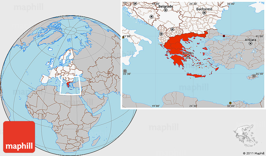 Gray location map of greece highlighted continent 2d gumiabroncs Image collections