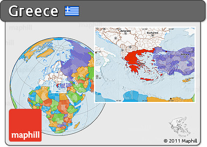Free political location map of greece highlighted continent highlighted continent political location map of greece highlighted continent gumiabroncs Choice Image