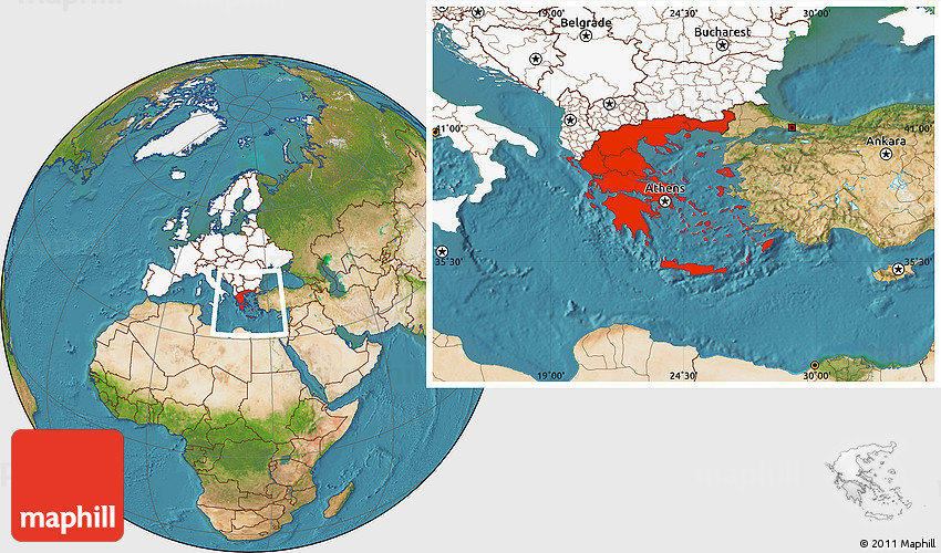 Satellite location map of greece highlighted continent 2d gumiabroncs Image collections