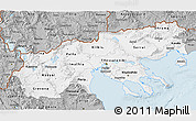 Gray 3D Map of Makedonia