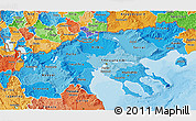 Political Shades 3D Map of Makedonia