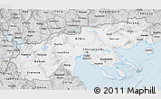 Silver Style 3D Map of Makedonia