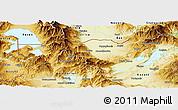 Physical Panoramic Map of Florina