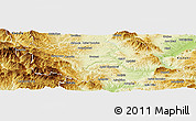 Physical Panoramic Map of Grevena