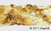 Physical Panoramic Map of Kastoria