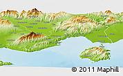 Physical Panoramic Map of Kavala
