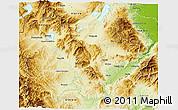 Physical 3D Map of Kozani