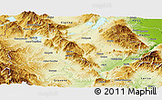 Physical Panoramic Map of Kozani
