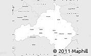 Silver Style Simple Map of Kozani
