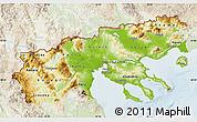 Physical Map of Makedonia, lighten