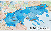 Political Shades Map of Makedonia, lighten