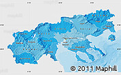 Political Shades Map of Makedonia, single color outside