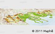 Physical Panoramic Map of Makedonia, lighten