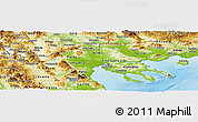 Physical Panoramic Map of Makedonia