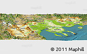 Physical Panoramic Map of Makedonia, satellite outside