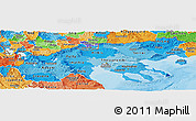 Political Shades Panoramic Map of Makedonia