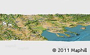 Satellite Panoramic Map of Makedonia