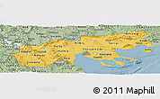 Savanna Style Panoramic Map of Makedonia